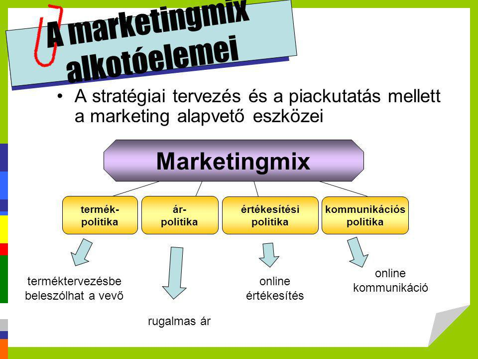 A marketingmix alkotóelemei