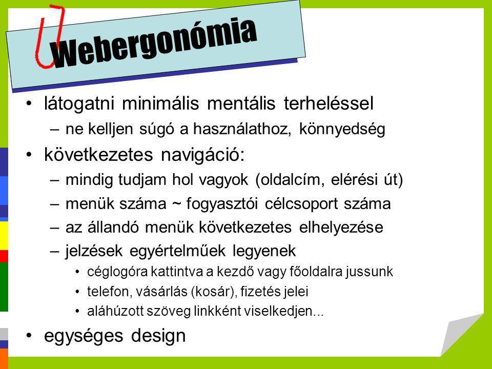 Webergonómia látogatni minimális mentális terheléssel