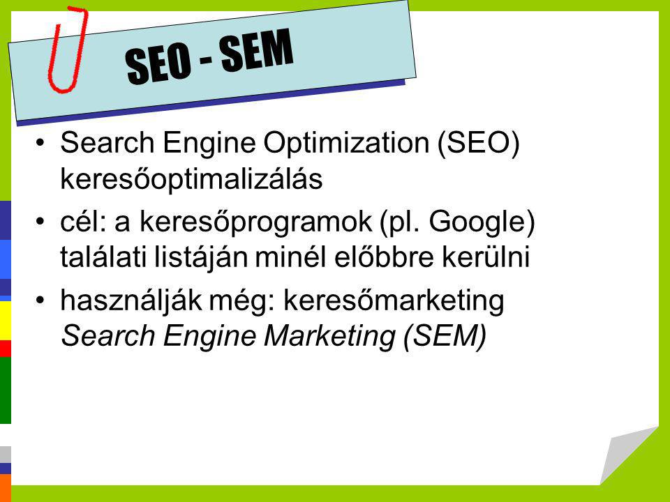 SEO - SEM Search Engine Optimization (SEO) keresőoptimalizálás