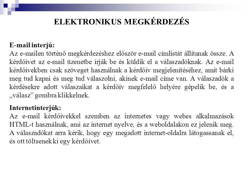 ELEKTRONIKUS MEGKÉRDEZÉS