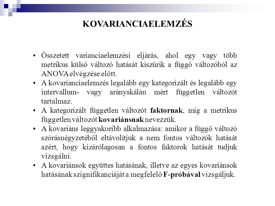 KOVARIANCIAELEMZÉS