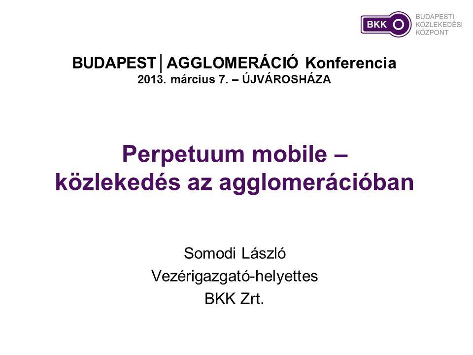 Perpetuum mobile – közlekedés az agglomerációban