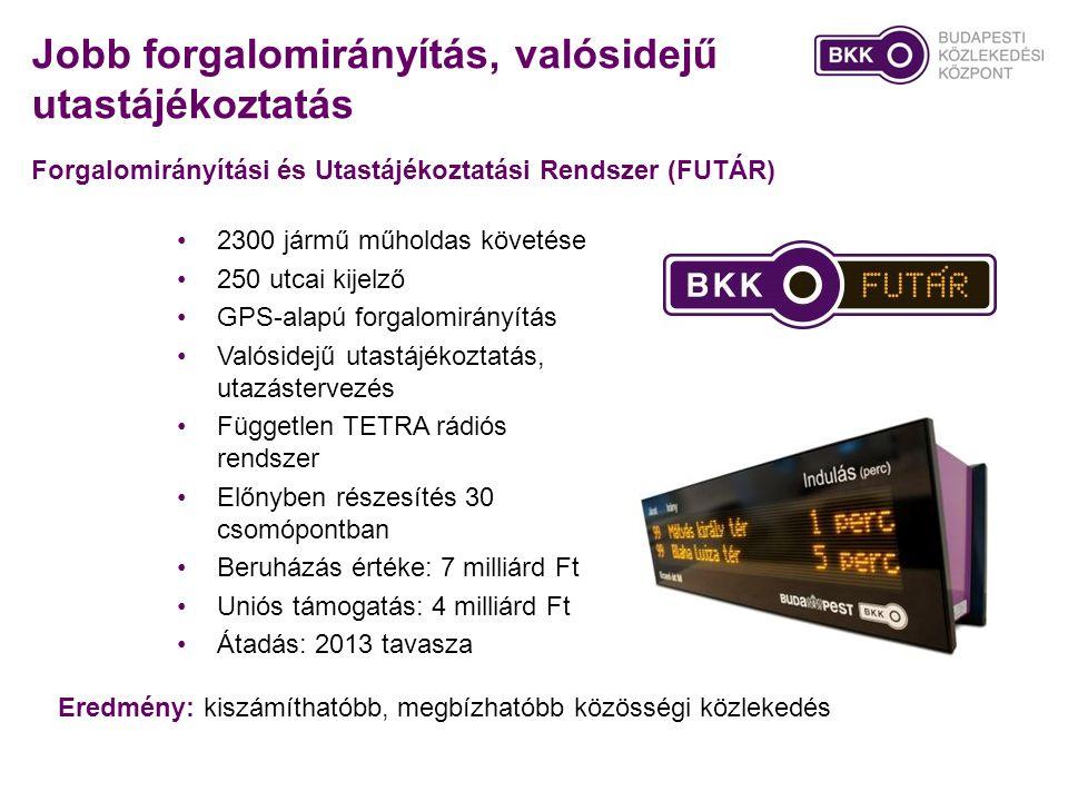 Jobb forgalomirányítás, valósidejű utastájékoztatás