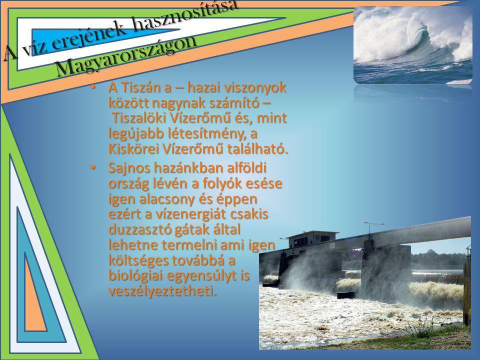 A víz erejének hasznosítása Magyarországon