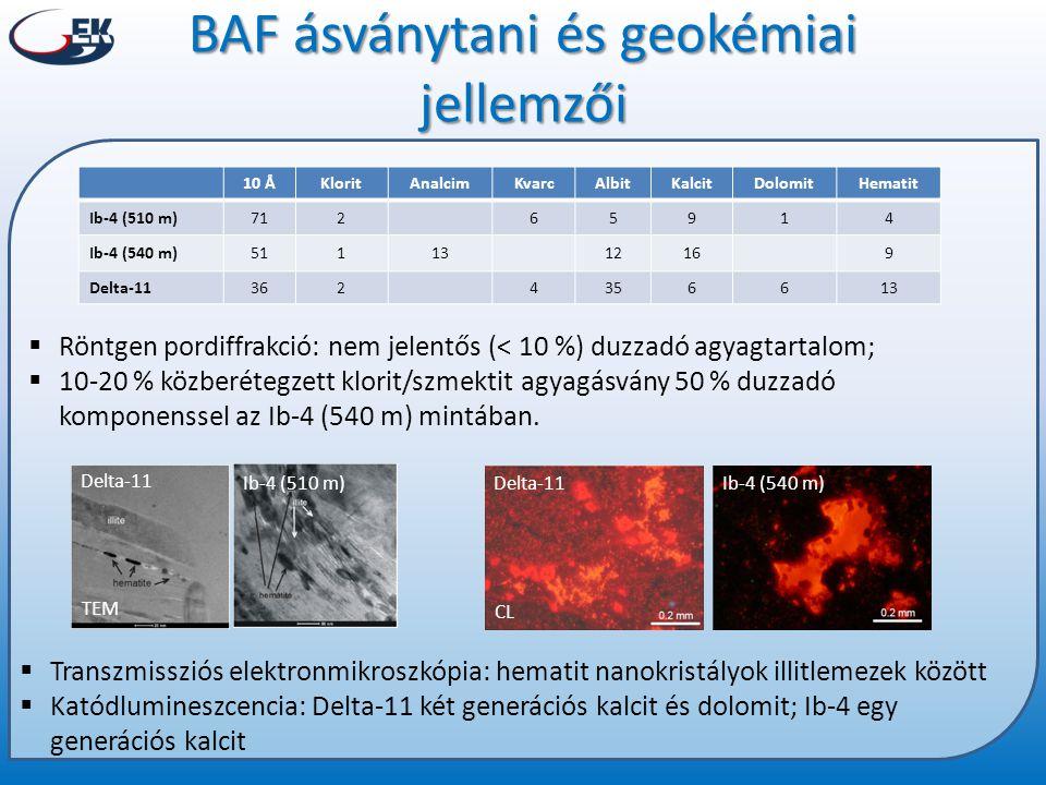 BAF ásványtani és geokémiai jellemzői