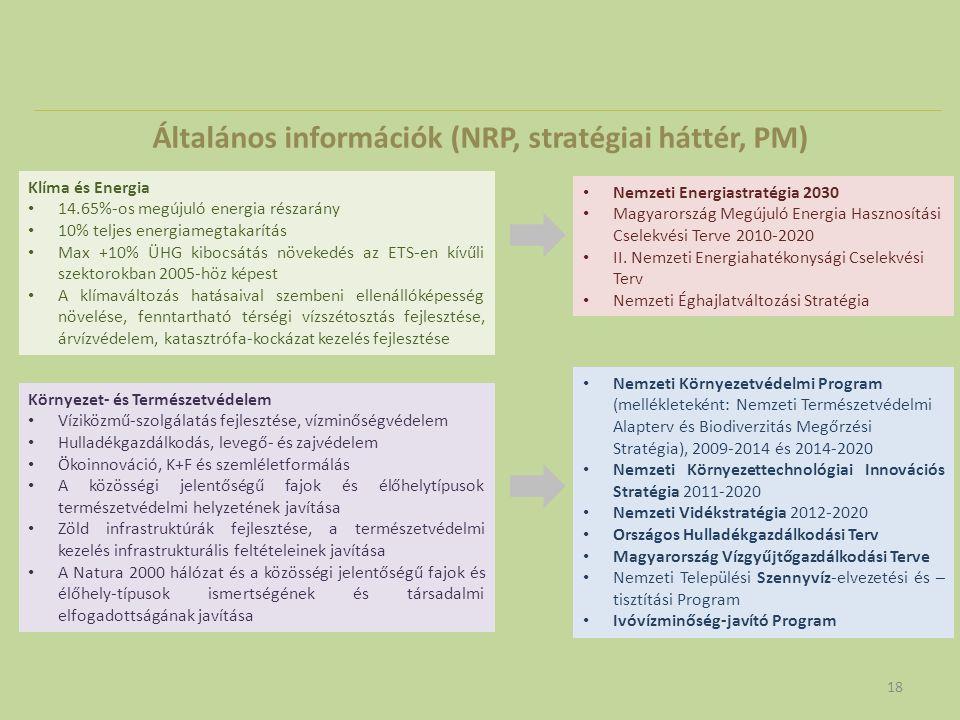 Általános információk (NRP, stratégiai háttér, PM)