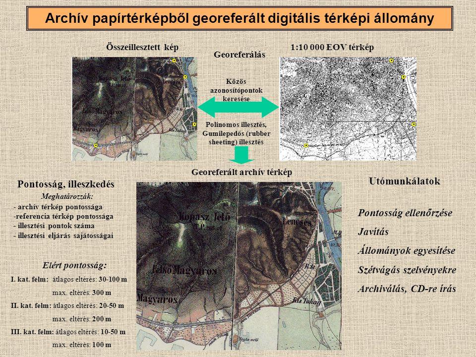 Archív papírtérképből georeferált digitális térképi állomány