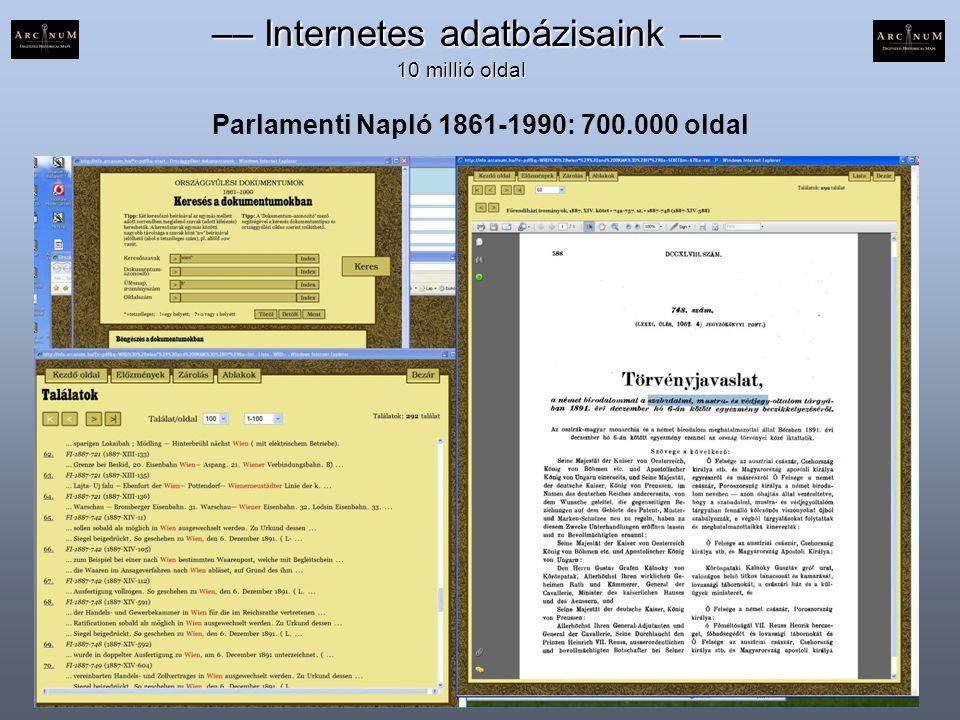 Parlamenti Napló 1861-1990: 700.000 oldal