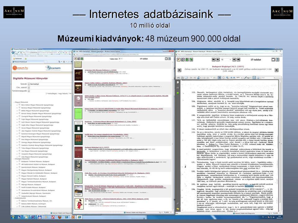 –– Internetes adatbázisaink ––