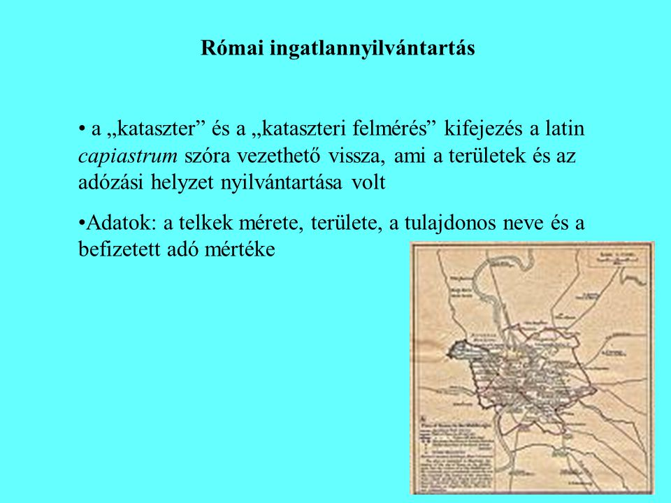Római ingatlannyilvántartás