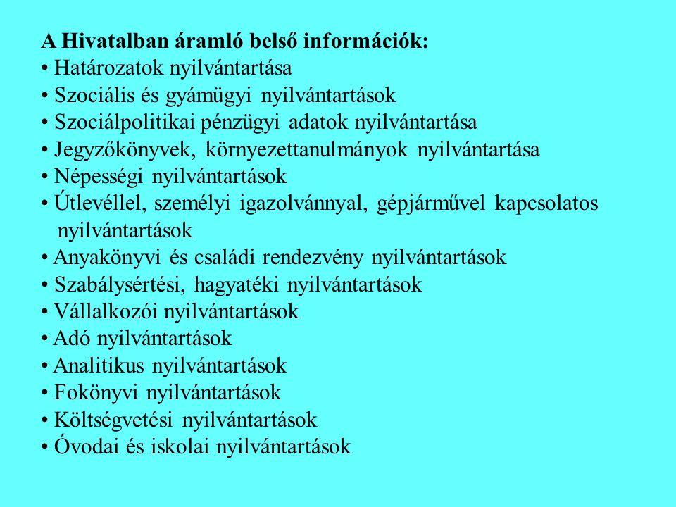 A Hivatalban áramló belső információk:
