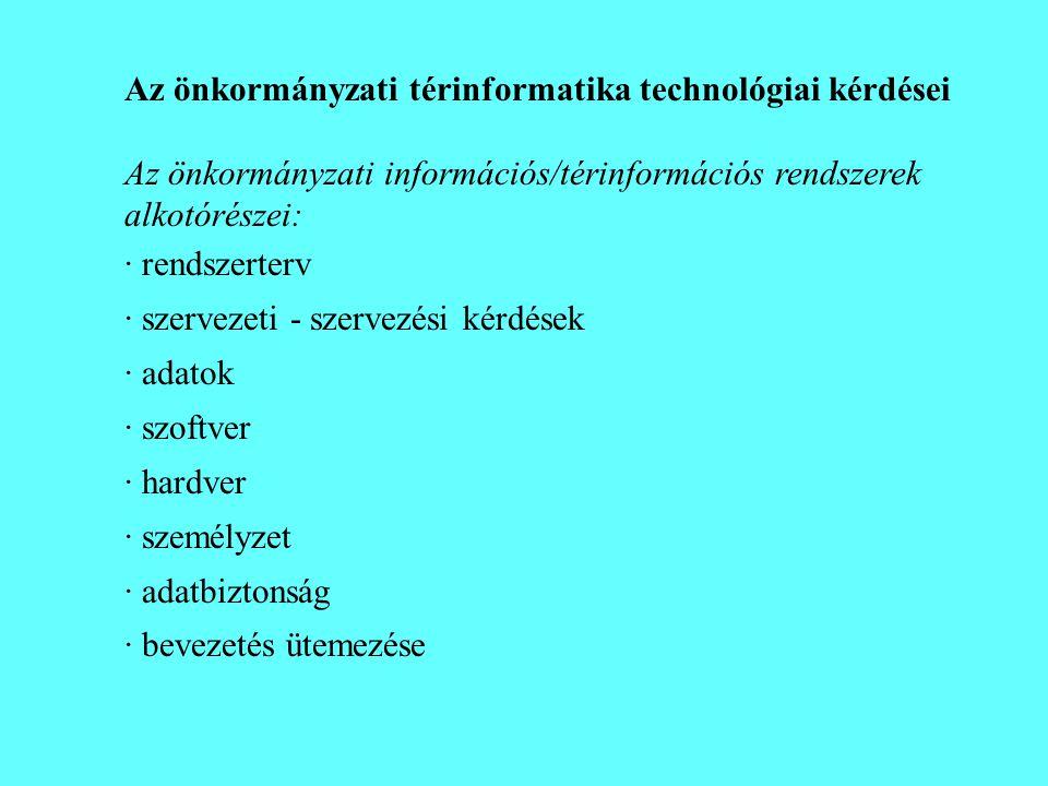 Az önkormányzati térinformatika technológiai kérdései