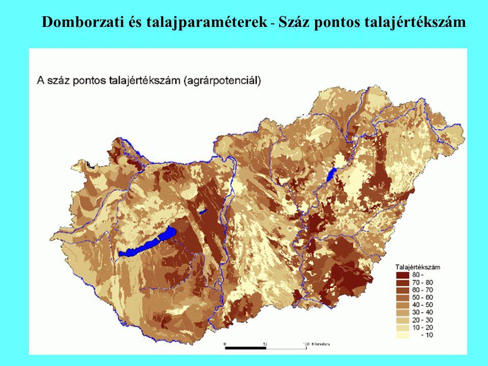 Domborzati és talajparaméterek - Száz pontos talajértékszám