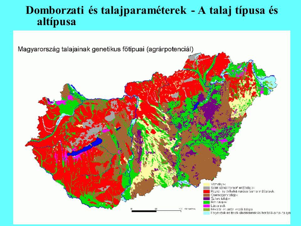 Domborzati és talajparaméterek - A talaj típusa és altípusa