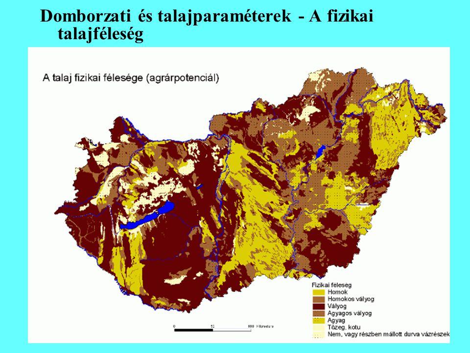 Domborzati és talajparaméterek - A fizikai talajféleség