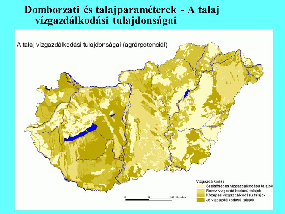 Domborzati és talajparaméterek - A talaj vízgazdálkodási tulajdonságai