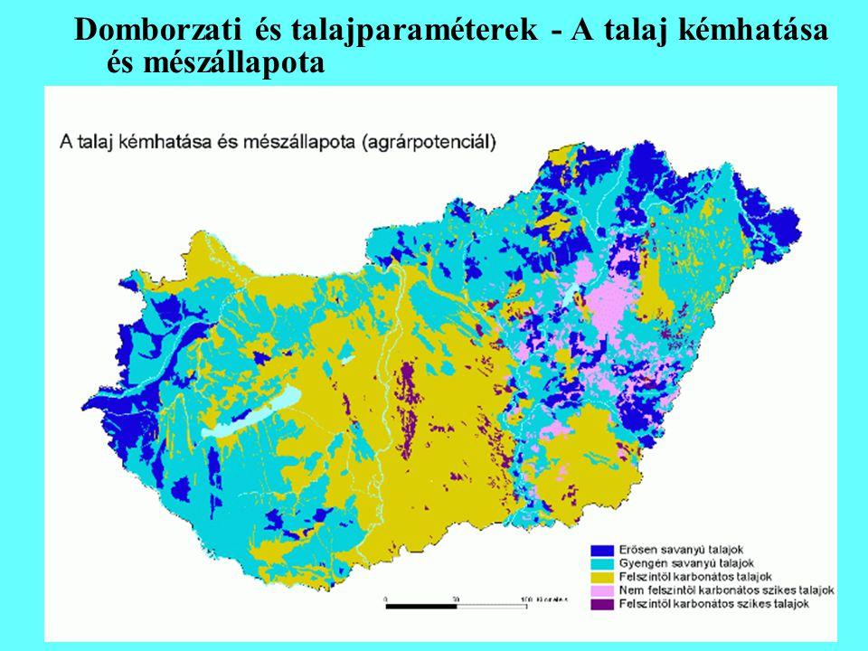 Domborzati és talajparaméterek - A talaj kémhatása és mészállapota