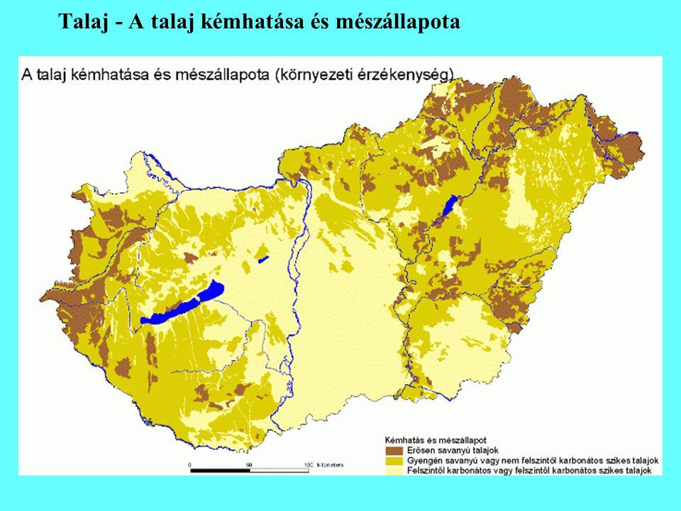 Talaj - A talaj kémhatása és mészállapota