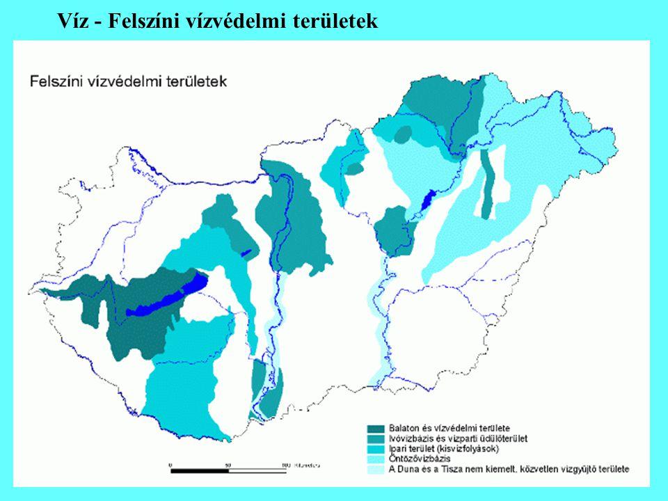 Víz - Felszíni vízvédelmi területek