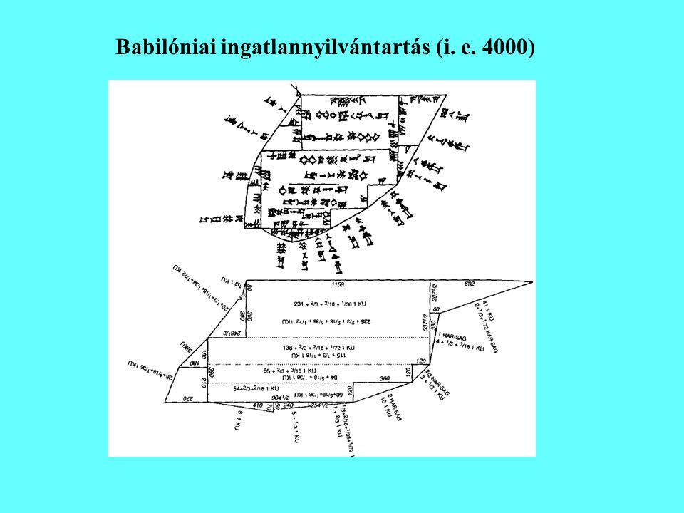 Babilóniai ingatlannyilvántartás (i. e. 4000)