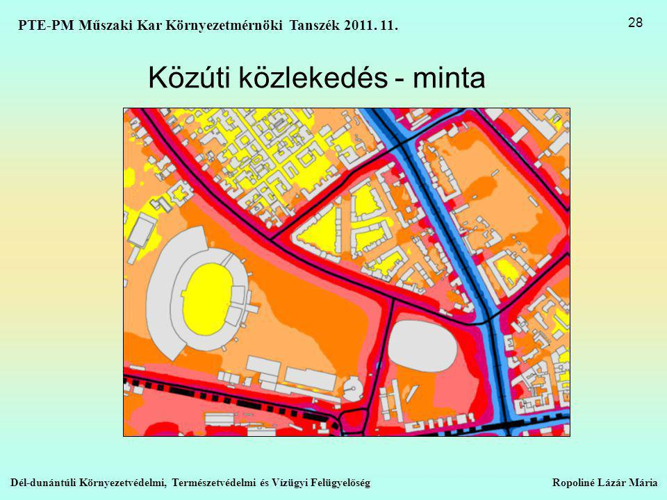 Közúti közlekedés - minta