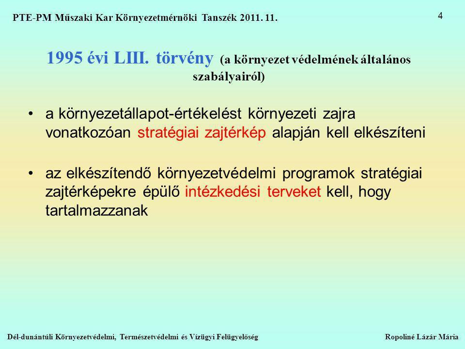 1995 évi LIII. törvény (a környezet védelmének általános szabályairól)