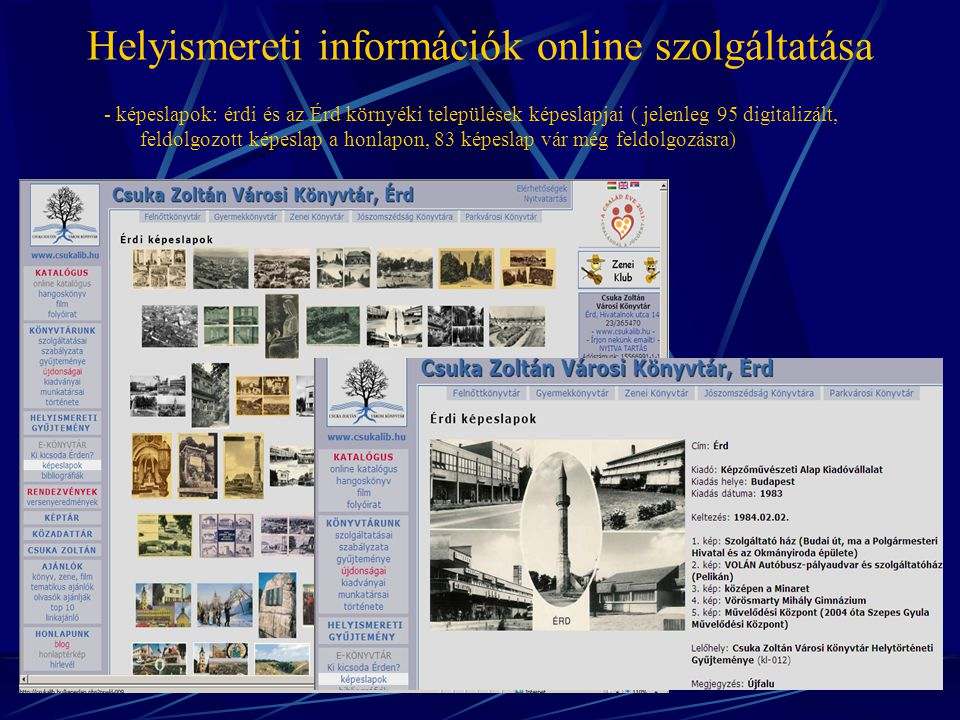 Helyismereti információk online szolgáltatása