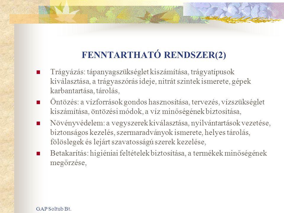 FENNTARTHATÓ RENDSZER(2)