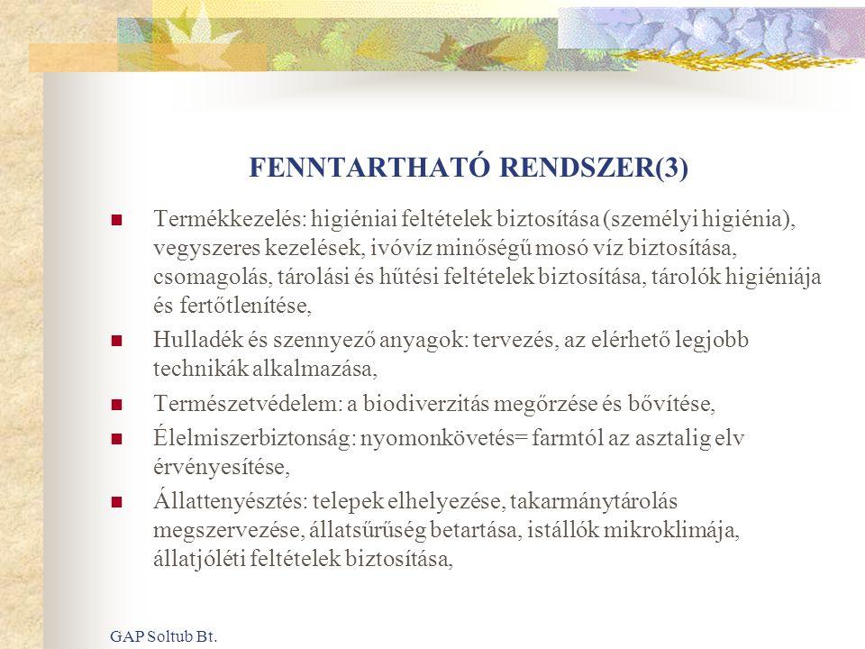 FENNTARTHATÓ RENDSZER(3)