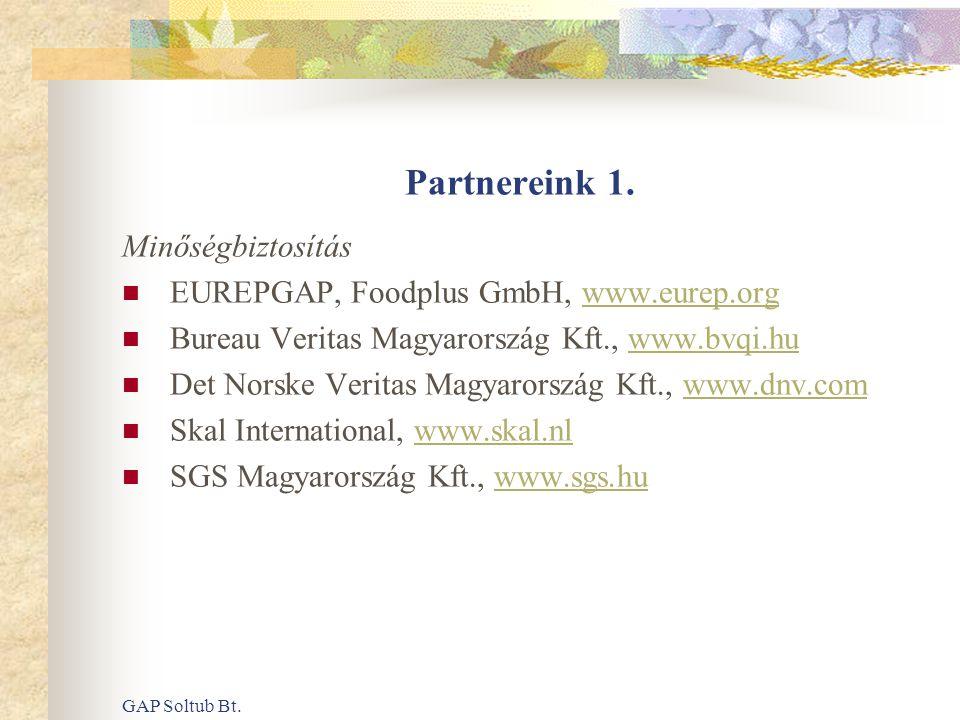 Partnereink 1. Minőségbiztosítás