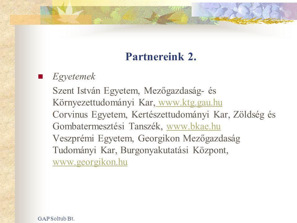 Partnereink 2. Egyetemek