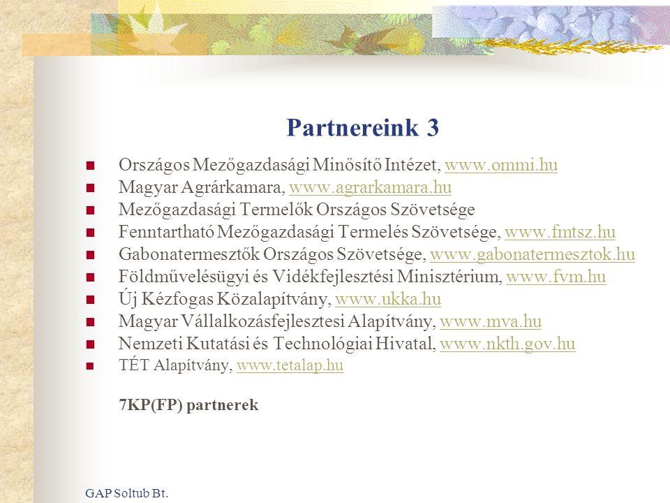 Partnereink 3 Országos Mezőgazdasági Minősítő Intézet, www.ommi.hu