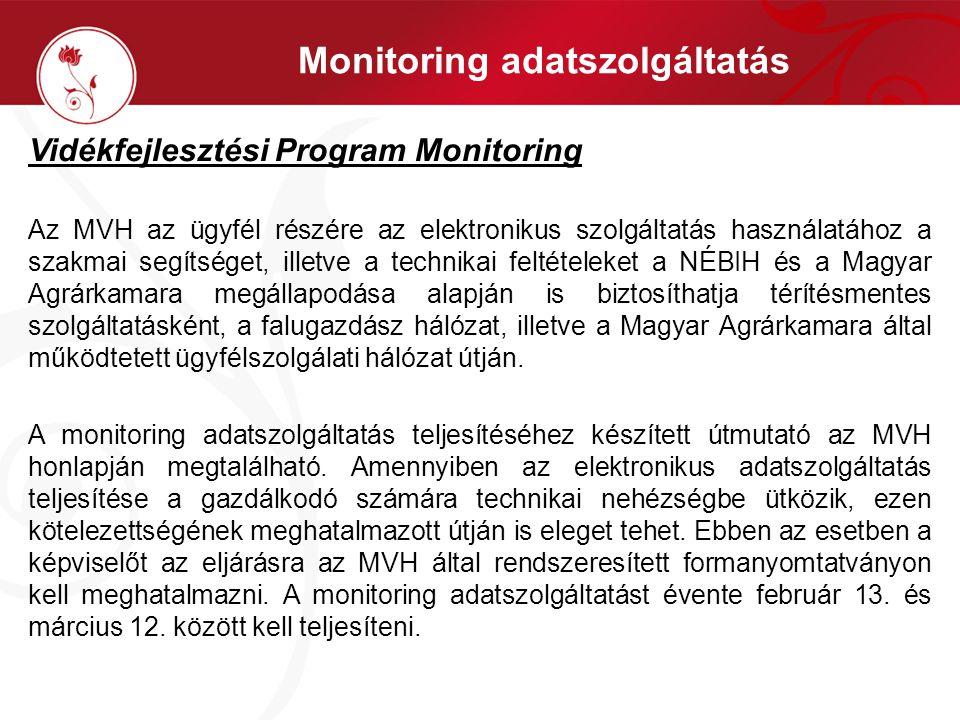 Monitoring adatszolgáltatás