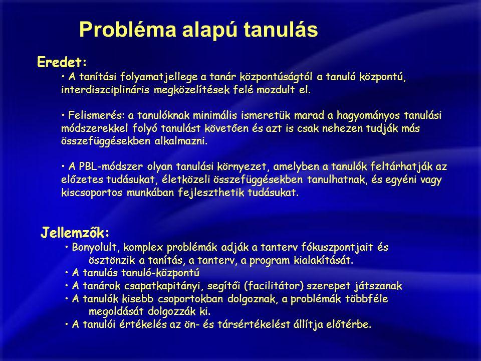 Probléma alapú tanulás