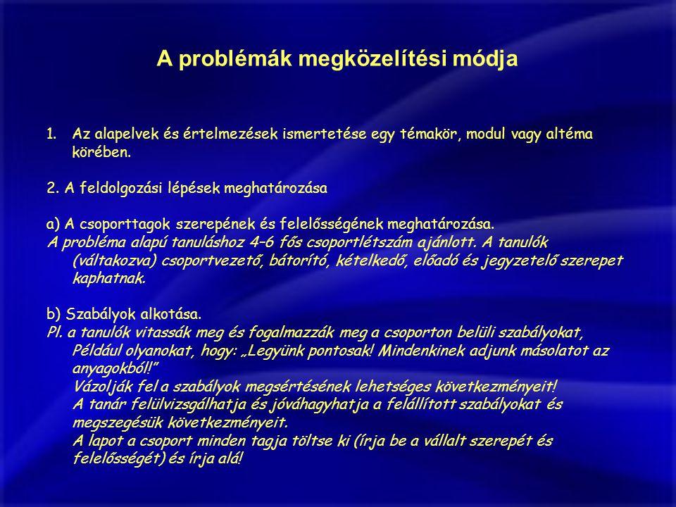 A problémák megközelítési módja