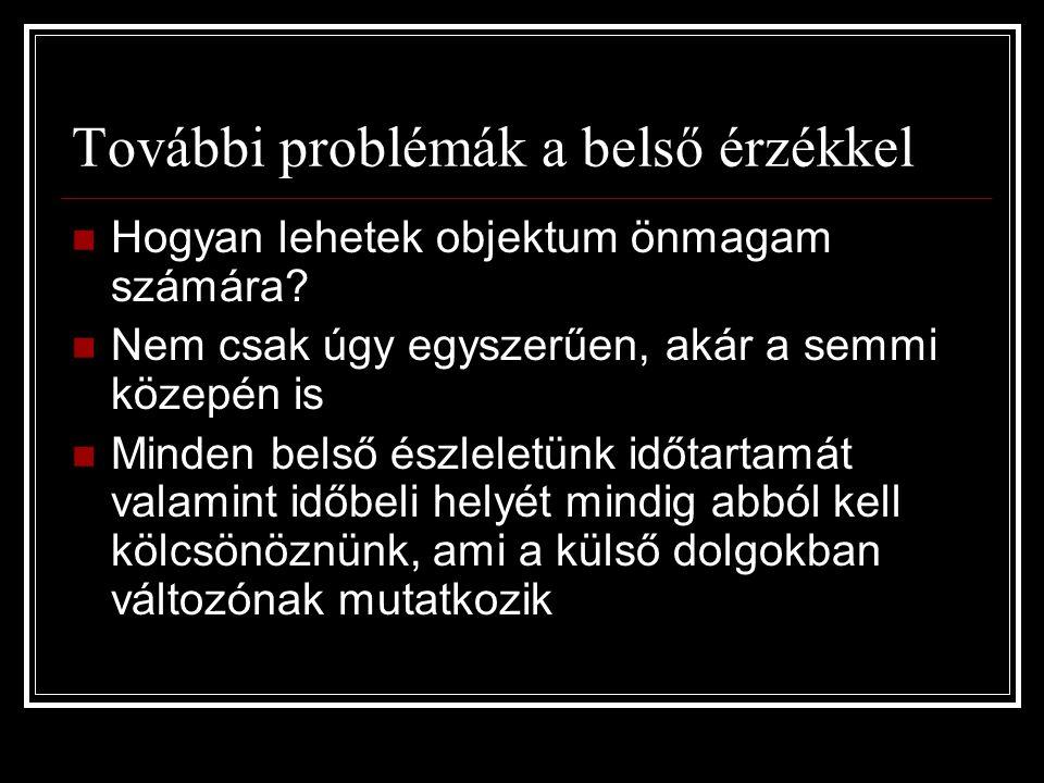 További problémák a belső érzékkel