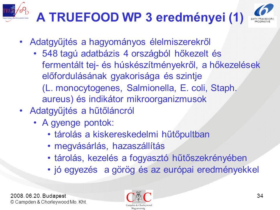 A TRUEFOOD WP 3 eredményei (1)