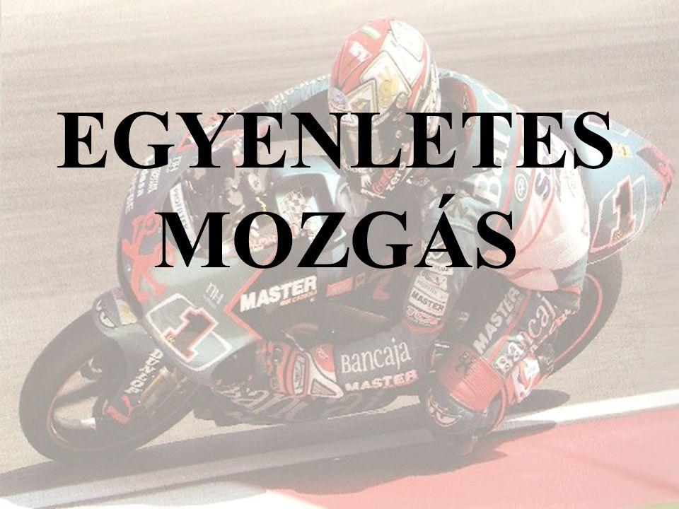 EGYENLETES MOZGÁS