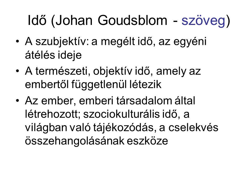 Idő (Johan Goudsblom - szöveg)