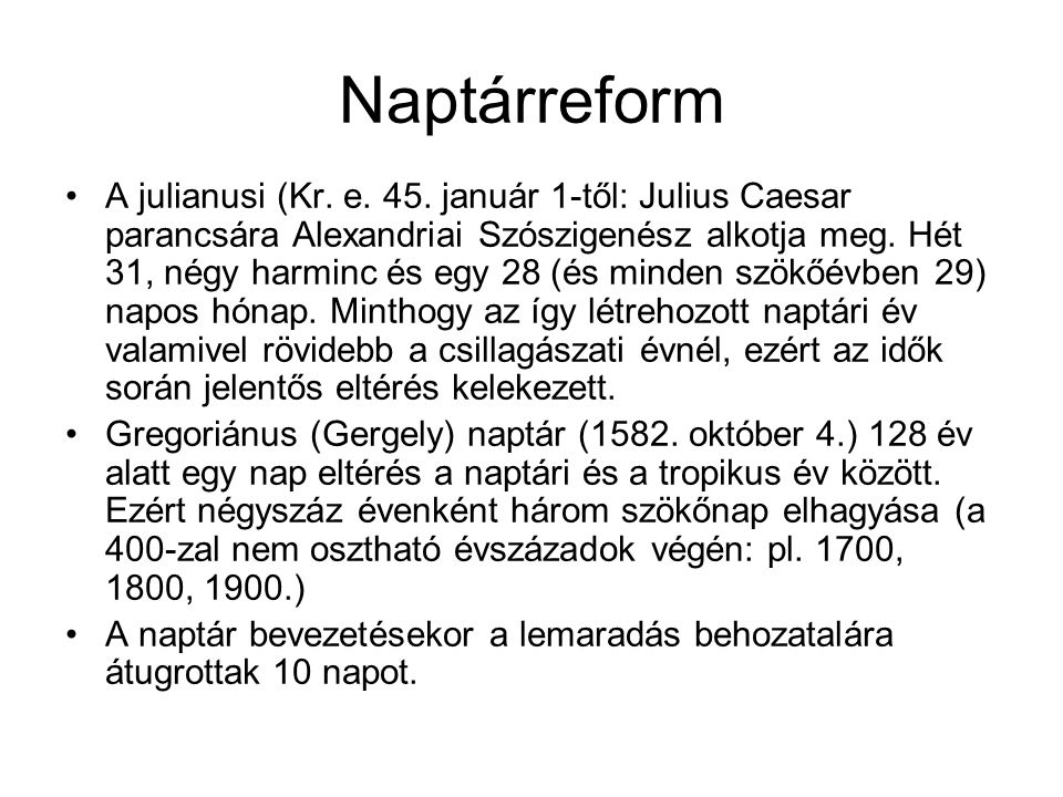 Naptárreform