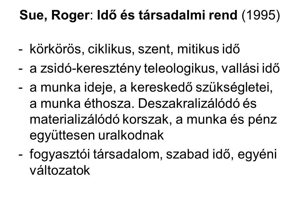 Sue, Roger: Idő és társadalmi rend (1995)