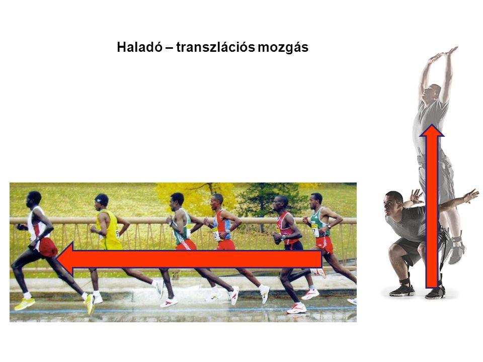 Haladó – transzlációs mozgás