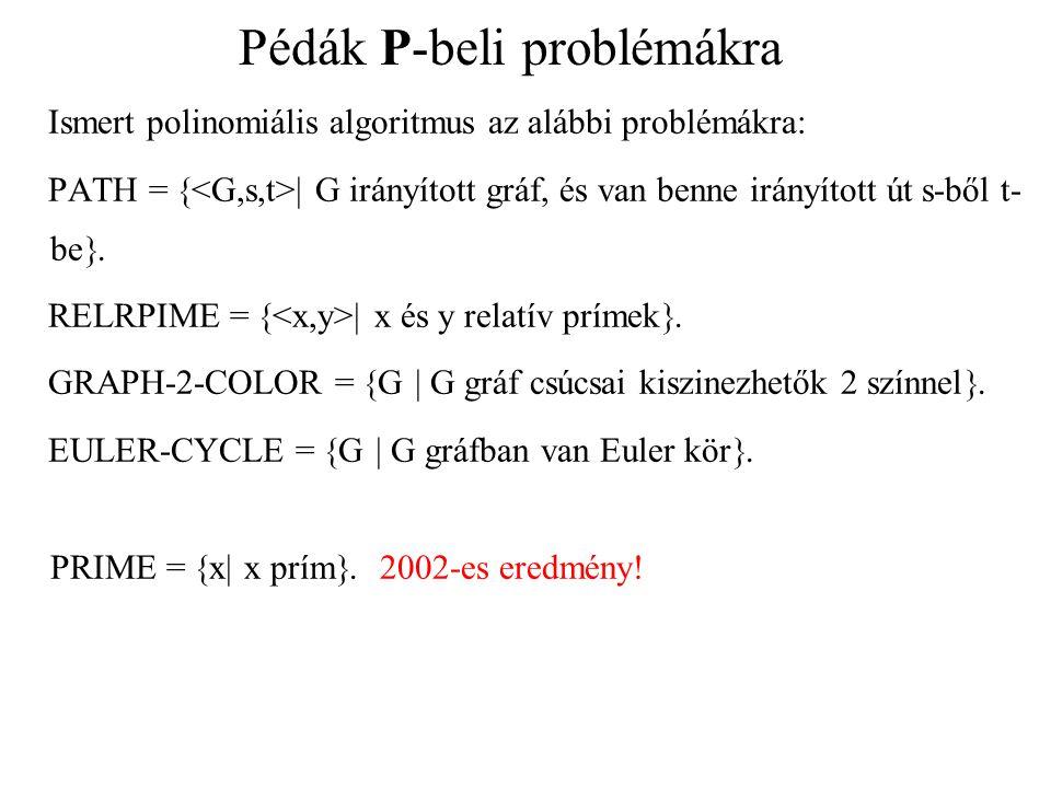 Pédák P-beli problémákra