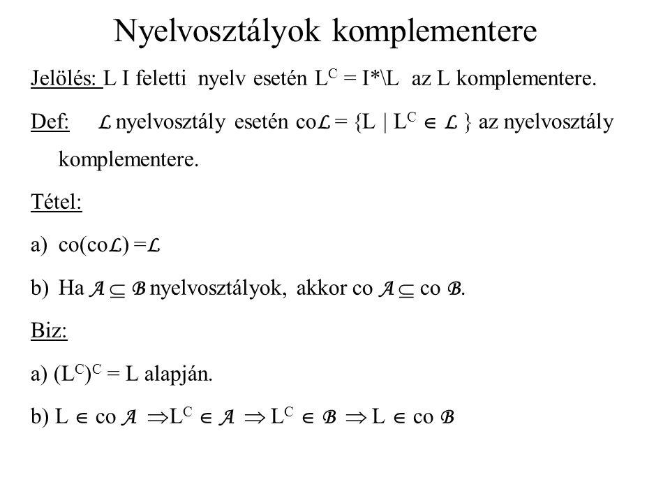 Nyelvosztályok komplementere