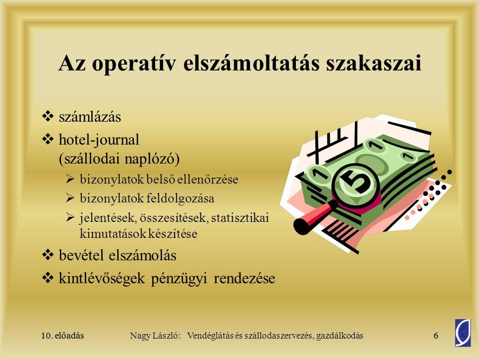 Az operatív elszámoltatás szakaszai