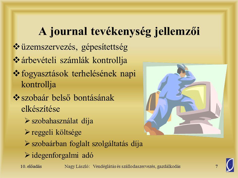 A journal tevékenység jellemzői