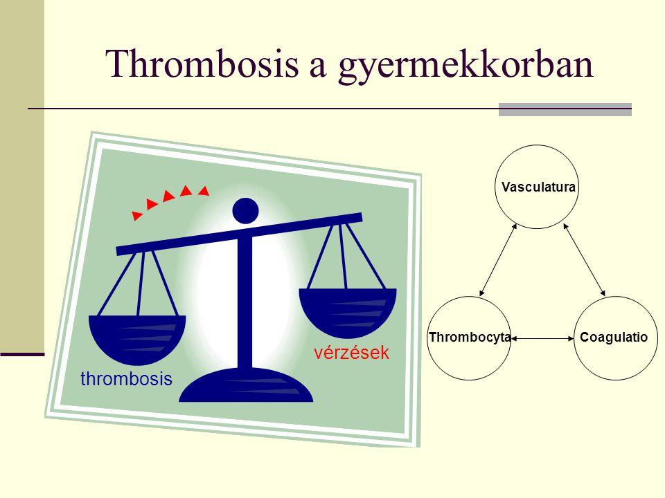 Thrombosis a gyermekkorban