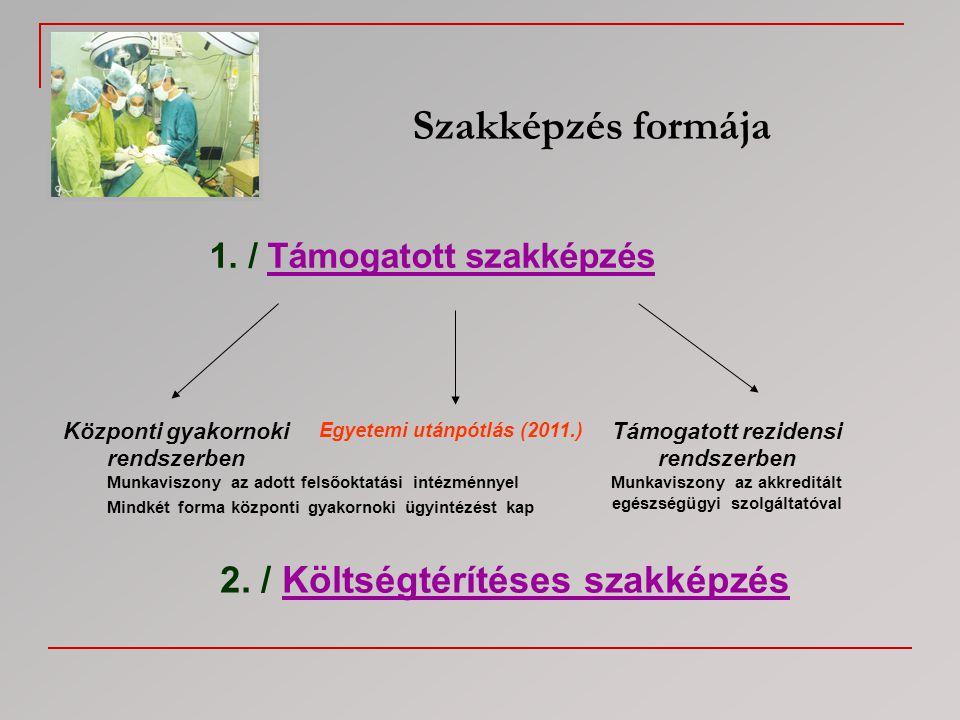 Szakképzés formája 2. / Költségtérítéses szakképzés