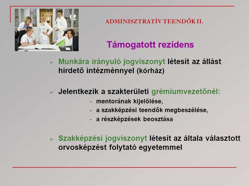 ADMINISZTRATÍV TEENDŐK II.