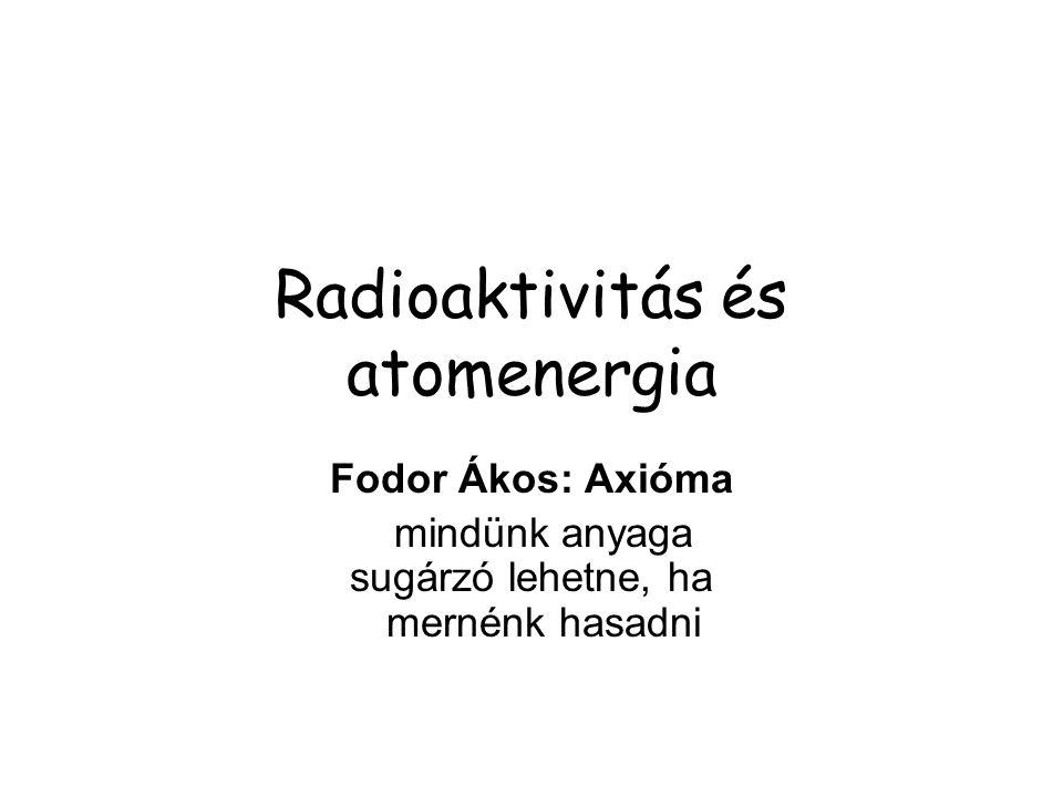 Radioaktivitás és atomenergia